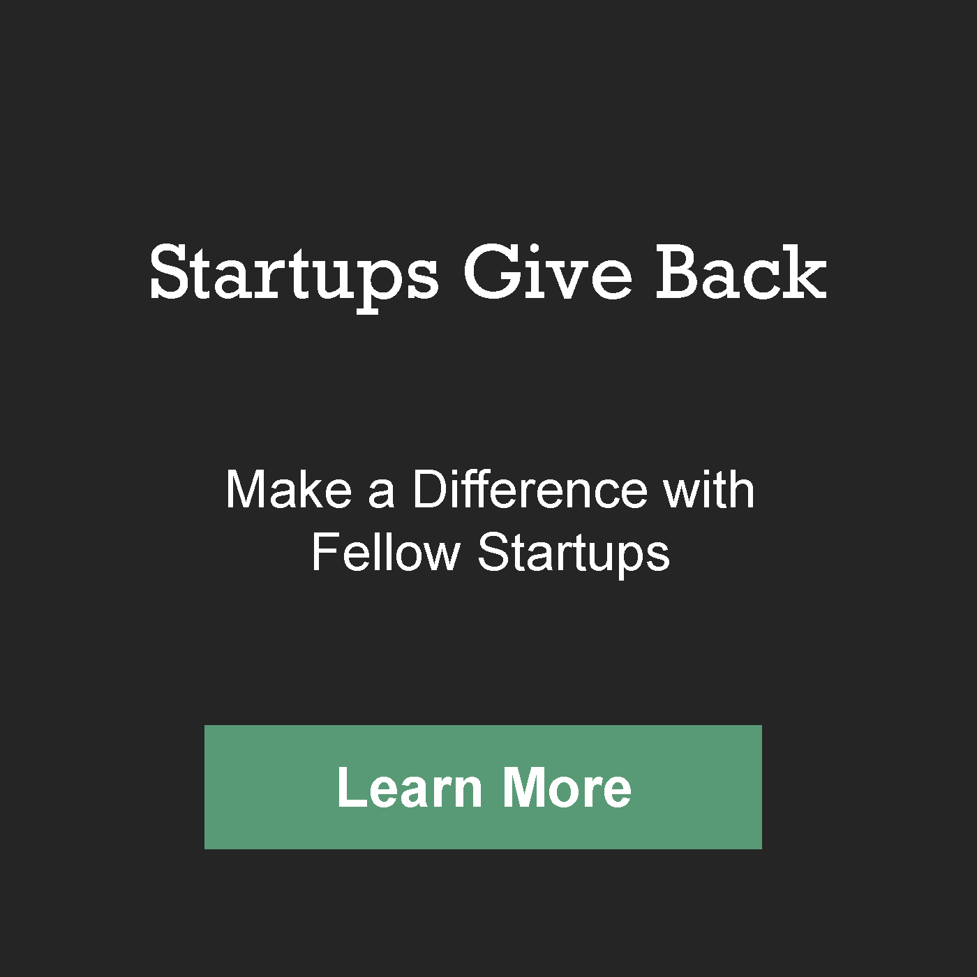 Startups Give Back About